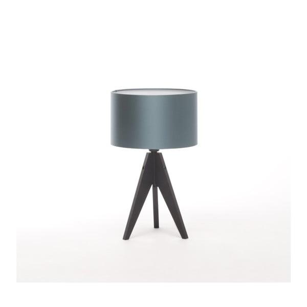 Modrá  stolní lampa Artist, černá lakovaná bříza, Ø 25 cm