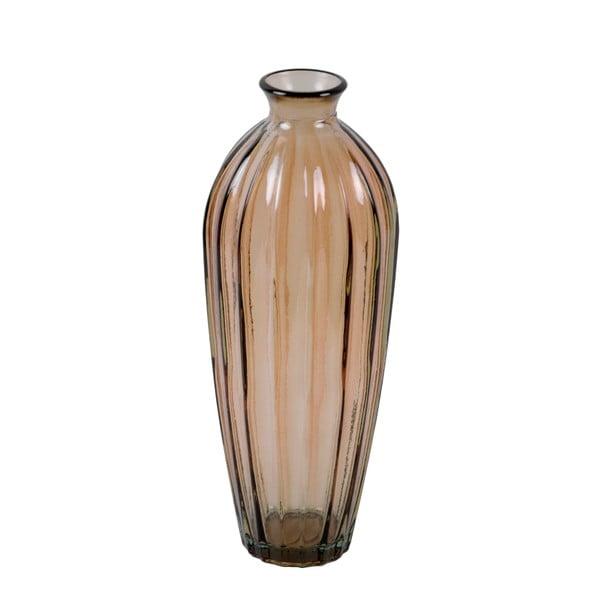 Dymovohnedá váza z recyklovaného skla Ego Dekor Etnico, výška 28 cm