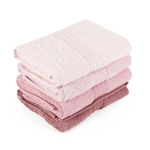 Sada 4 ručníků Rainbow Dusty, 50x90cm