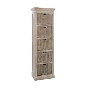 Zásuvky Baskets Grey, 59x40x194 cm