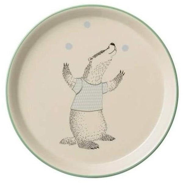 Farfurie din ceramică pentru copii Bloomingville Marius, ⌀20 cm