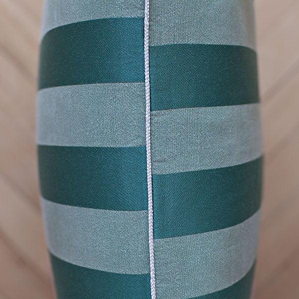 Polštář s výplní Dark Green Big Stripes, 50x50 cm