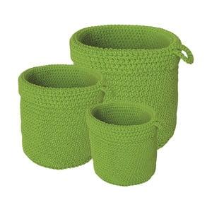 Sada 3 koupelnových košíků Green Baskets