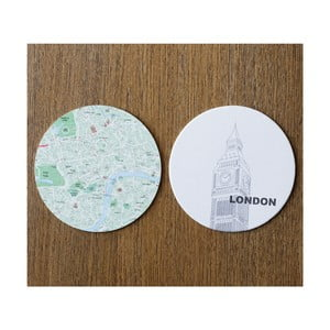 Sada 10 podtácků Design Ideas MapCoasters London