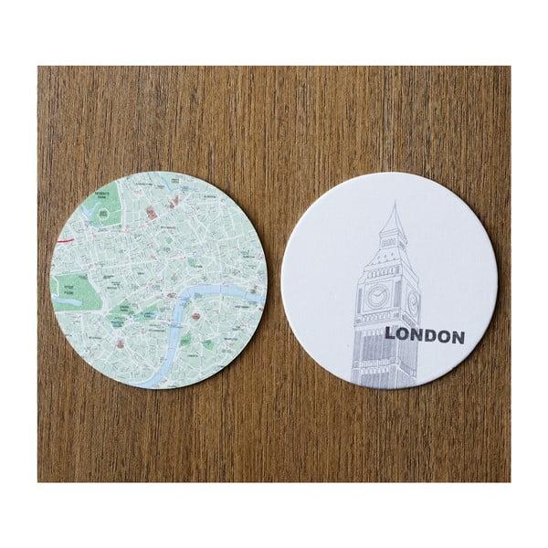 Sada 10 podtácků Design Ideas MapCoasters London