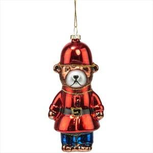 Vánoční závěsná ozdoba Butlers Hang On Red Bear