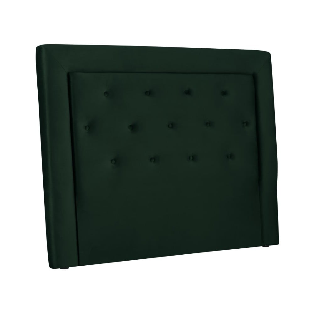 Tmavě zelené čelo postele Cosmopolitan Design Cloud, šířka 140 cm