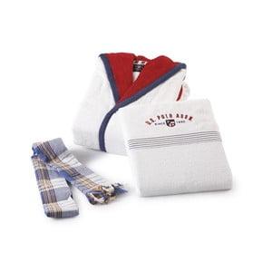 Bílá sada dámského a pánského županu a 4 ručníků U.S. Polo Assn. Cincinnati