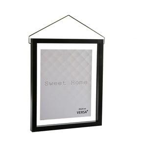 Černý závěsný fotorám Versa, na fotografii 20 x 25 cm
