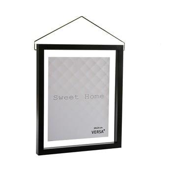Ramă foto suspendată VERSA, pentru fotografii 20 x 25 cm, negru imagine