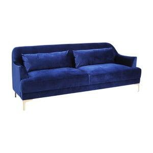 Modrá pohovka pro 3 Kare Design Proud