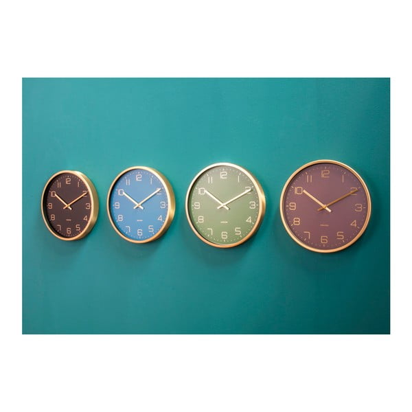 Fialové nástěnné hodiny Karlsson Elegance