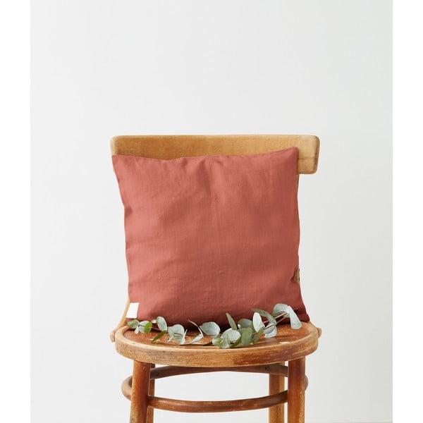 Față de pernă din in Linen Tales, 45 x 45 cm, portocaliu caisă