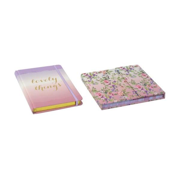 Sada zápisníku a měsíčního plánovače Charming Garden