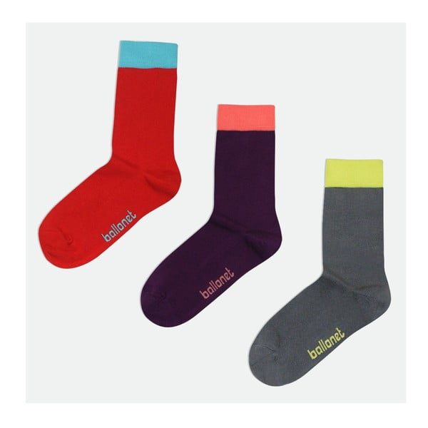 3 páry ponožek Dark, velikost 36-40