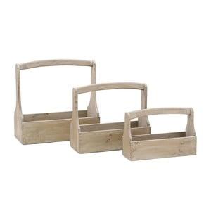Sada 3 dřevěných přepravek Antik