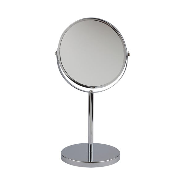 Oglindă cosmetică de masă Galzone, argintie
