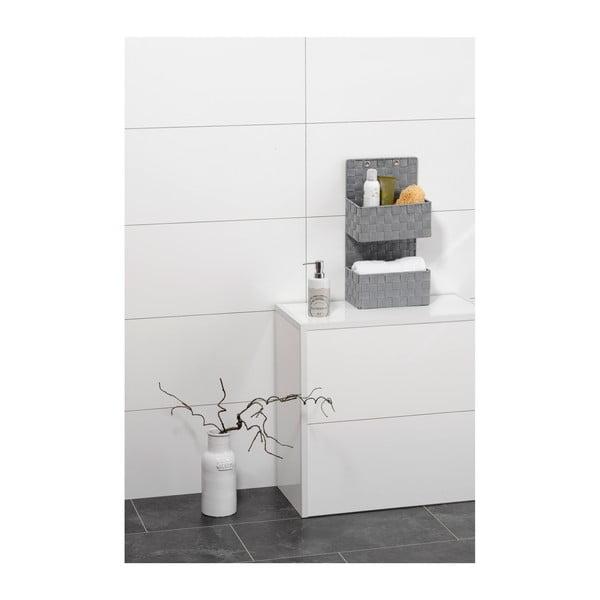 Šedý dvojitý koupelnový organizér Wenko Adria