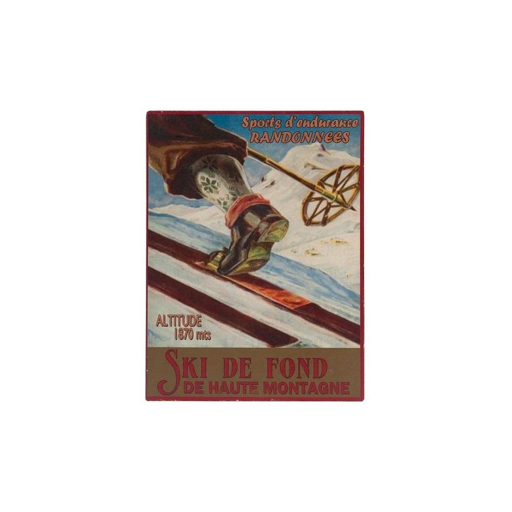 Nástěnná cedule Antic Line Ski de Font,25x33cm