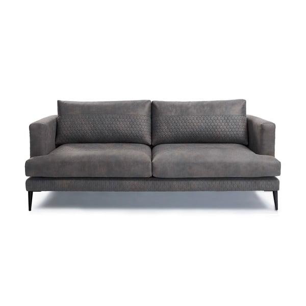Canapea cu 3 locuri La Forma Vinny, gri grafit