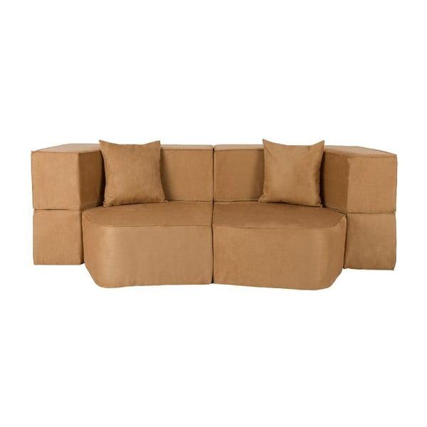 Rozkládací multifunkční pohovka Sofa&Bed, hnědá