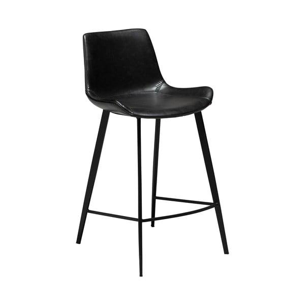 Černá barová židle z eko kůže DAN–FORM Denmark Hype, výška 91 cm