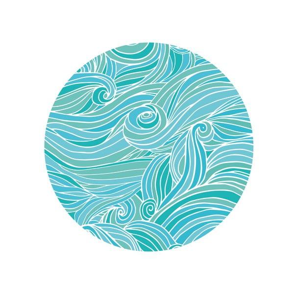 Sada 2 odkládacích stolků Sea Waves, 35 cm + 49 cm