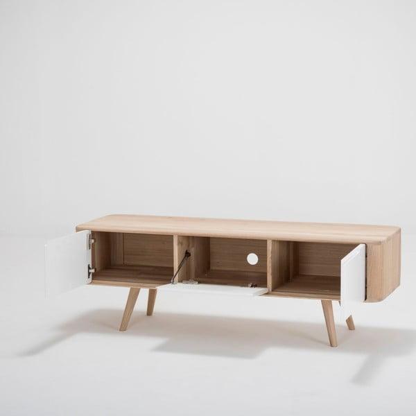 Televizní stolek z dubového dřeva Gazzda Ena, 135x55x45cm