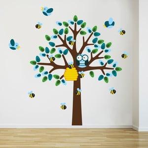 Samolepka na stěnu Strom a včeličky, 2 archy, 70x50 cm