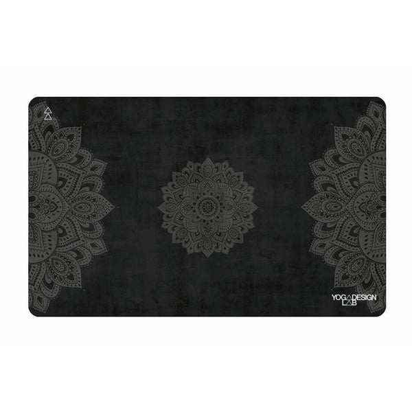 Mały ręcznik na jogę Yoga Design Lab Mandala Black