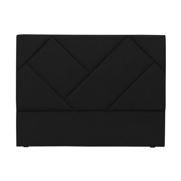 Černé čelo postele HARPER MAISON Annika, 200 x 120 cm
