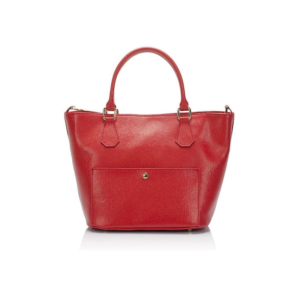 fca4cdeb1a Červená kožená kabelka Giulia Massari Jacqueline