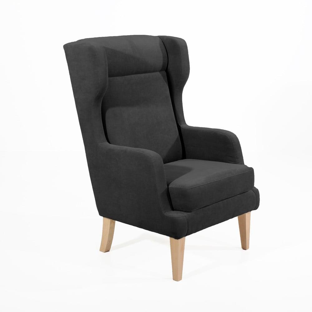 fotoliu max winzer bennet suede negru bonami. Black Bedroom Furniture Sets. Home Design Ideas