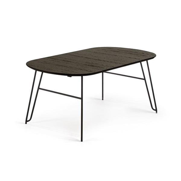 Černý rozkládací jídelní stůl La Forma Norfort, délka170/320cm