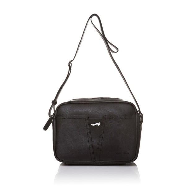 Kožená kabelka s dlouhým popruhem Marta Ponti Aipee, černá
