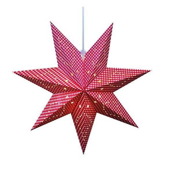 Červená závěsná světelná dekorace Markslöjd Gulli, ø 45 cm