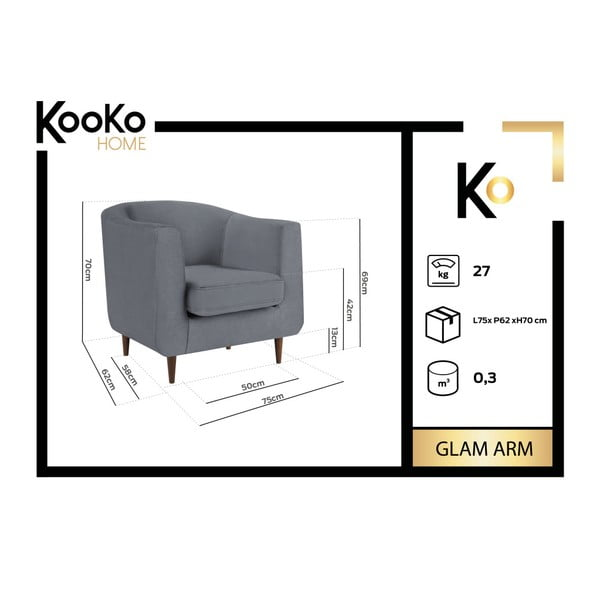 Tmavě zelené křeslo Kooko Home Glam
