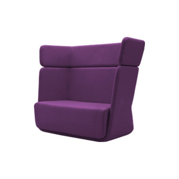 Ciemnofioletowy fotel Softline Basket Vision Purple