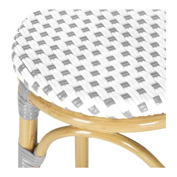 Barová židle Kiara Grey/White
