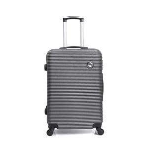 Šedý cestovní kufr na kolečkách BlueStar Porto, 39l