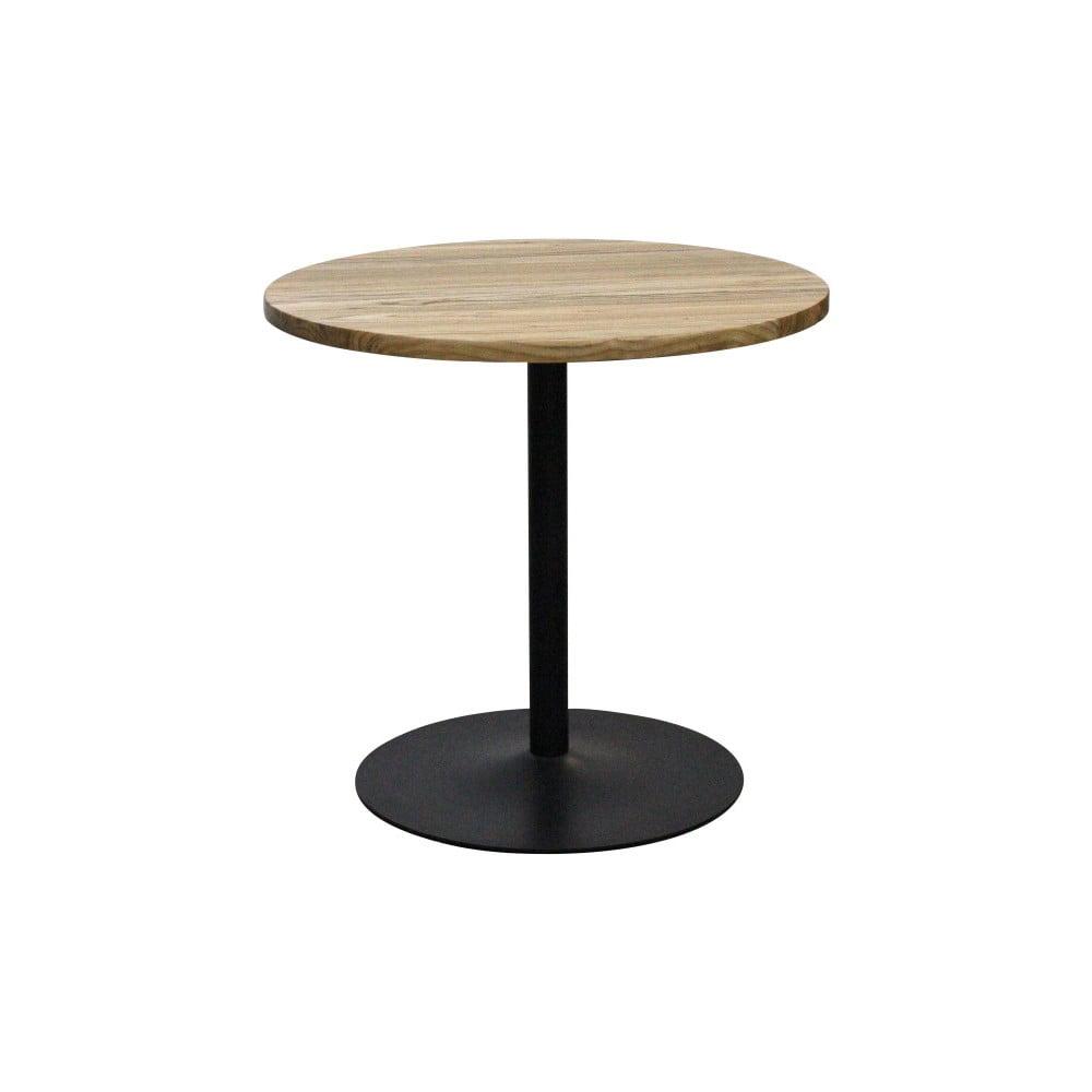 Jídelní stůl z jilmového dřeva s ocelovou konstrukcí Red Cartel, ⌀80cm