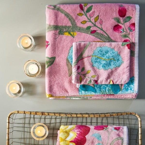 Ručník Pip Studio Floral Fantasy, 55x100 cm, růžový