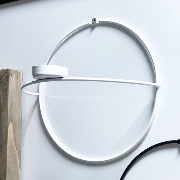 Bílý nástěnný svícen Circle, ø 21 cm
