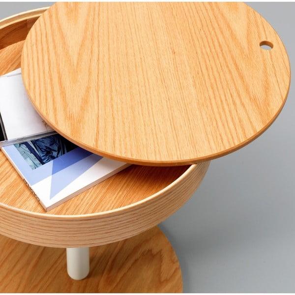 Hnědý odkládací stolek s úložným prostorem Design Twist Lampang
