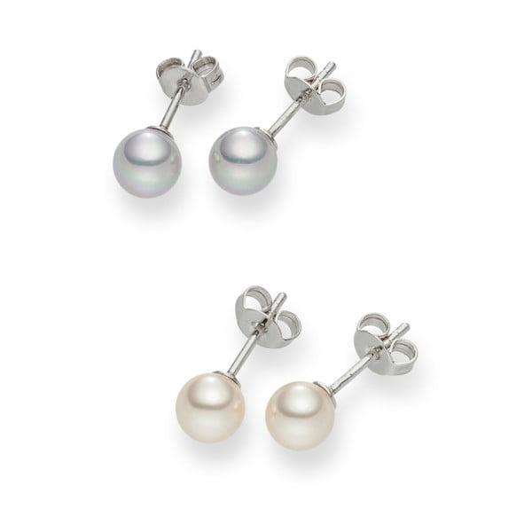 Sada 2 párů perlových náušnic Nova Pearls Copenhagen Défeibos