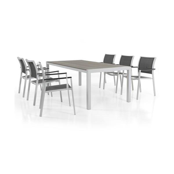 Sada 6 šedých zahradních židlí Brafab Scilla