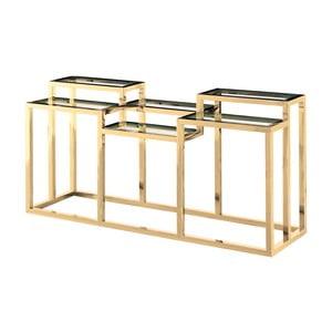 Nerezový konzolový stolek ve zlaté barvě Artelore Alvar