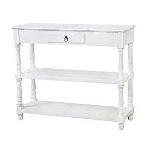 Bílý konzolový stolek z topolového dřeva Livin Hill Latina