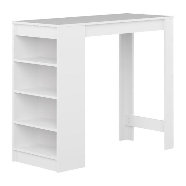 Bílý barový stůl s bílou deskou TemaHome Aravis
