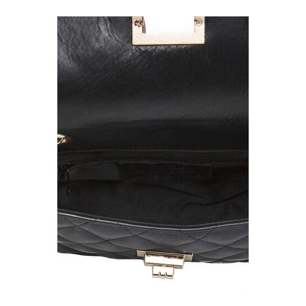 Černá kožená kabelka Giulia Massari Phaedra